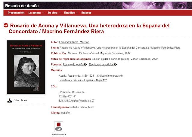 Página de la Biblioteca Virtual que da acceso al contenido del libro