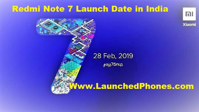 Xiaomi Redmi Note 7 India launch date