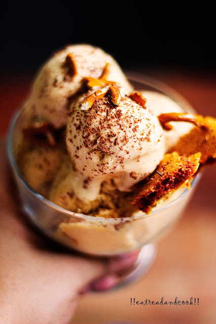 how to make Salted Caramel Ice Cream with Pretzels and Honeycomb