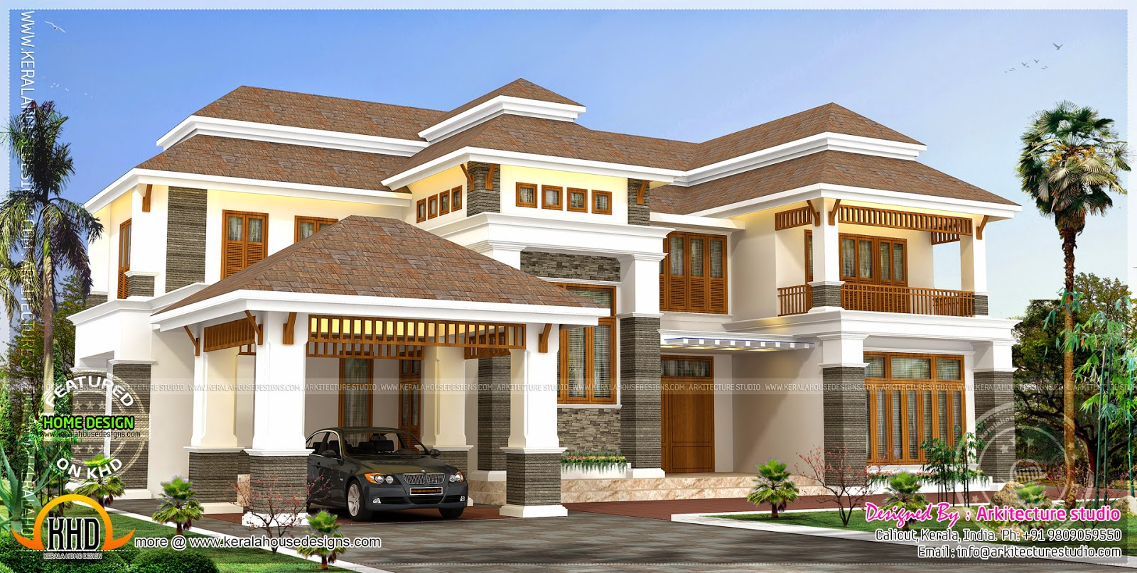 4000 square feet luxury home home kerala plans for House plans 4000 to 5000 square feet