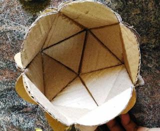 4 membuat hemi sphere dari kardus