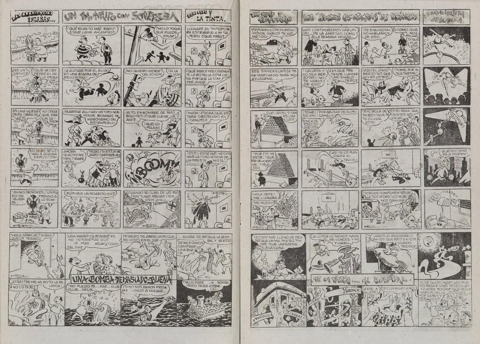 Doble página de Chicolino Almanaque 1953, Símbolo