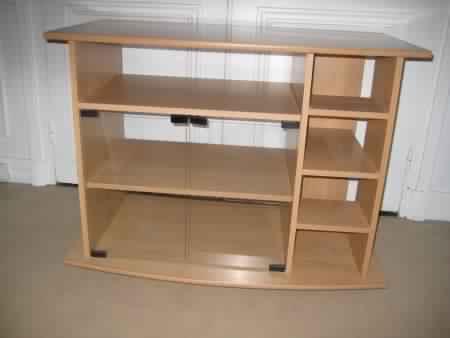 meuble chaine hifi bois maison design. Black Bedroom Furniture Sets. Home Design Ideas