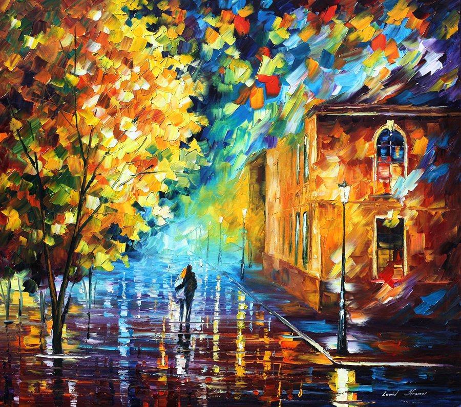 Fall Leaves Watercolor Wallpaper Melly Leonid Afremov 2