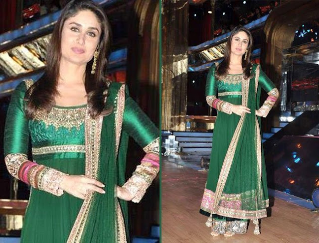 kareena in indian wear, kareena in ethnic wear, kareena kapoor soha's reception,  kareena kapoor at tejas talwalkar wedding