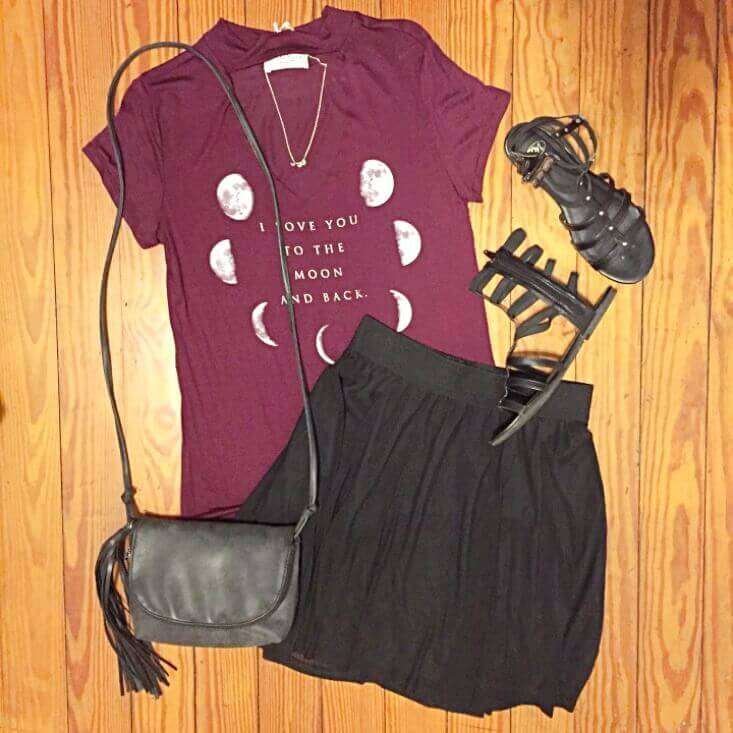 choker neck tee outfit of the day summer 2018
