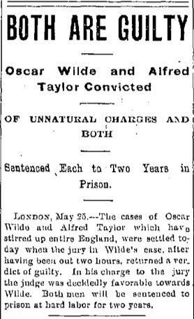 Oscar Wilde: Guilty