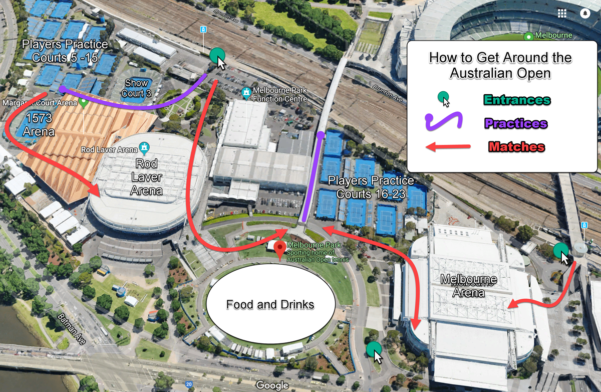 Lost At The Australian Open Try Using Hey Google Tennis - Us-open-tennis-center-map