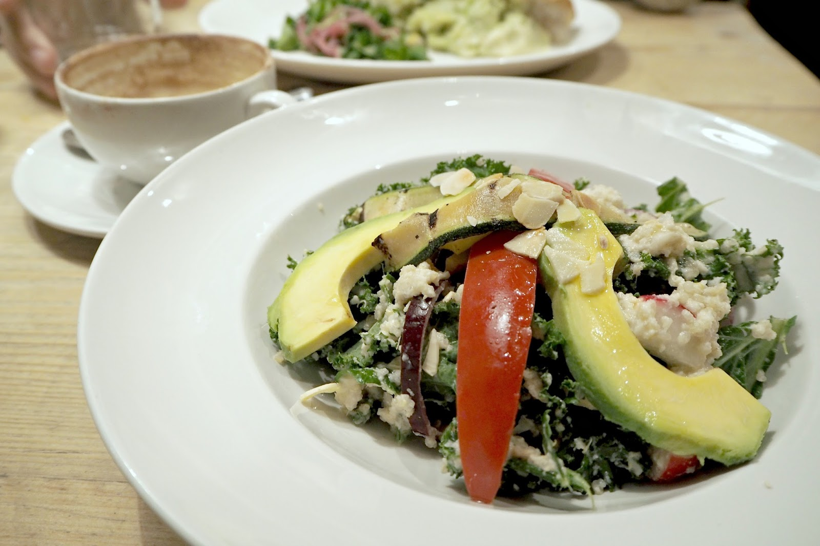 superfood kale salad, bills restaurant, lunchtime menu