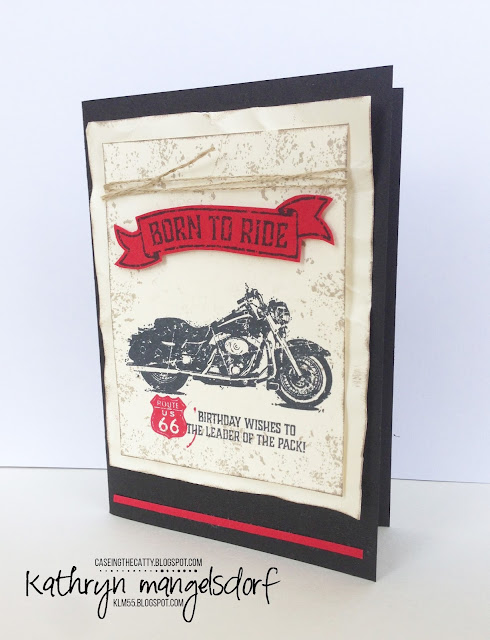 Stampin' Up! One Wild Ride, Male Birthday Card created by Kathryn Mangelsdorf