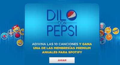[Sorteo] Participa y gana membresías premiun anuales para Spotify - Dilo con Pepsi