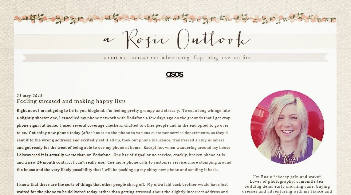A Rosie Outlook Blog
