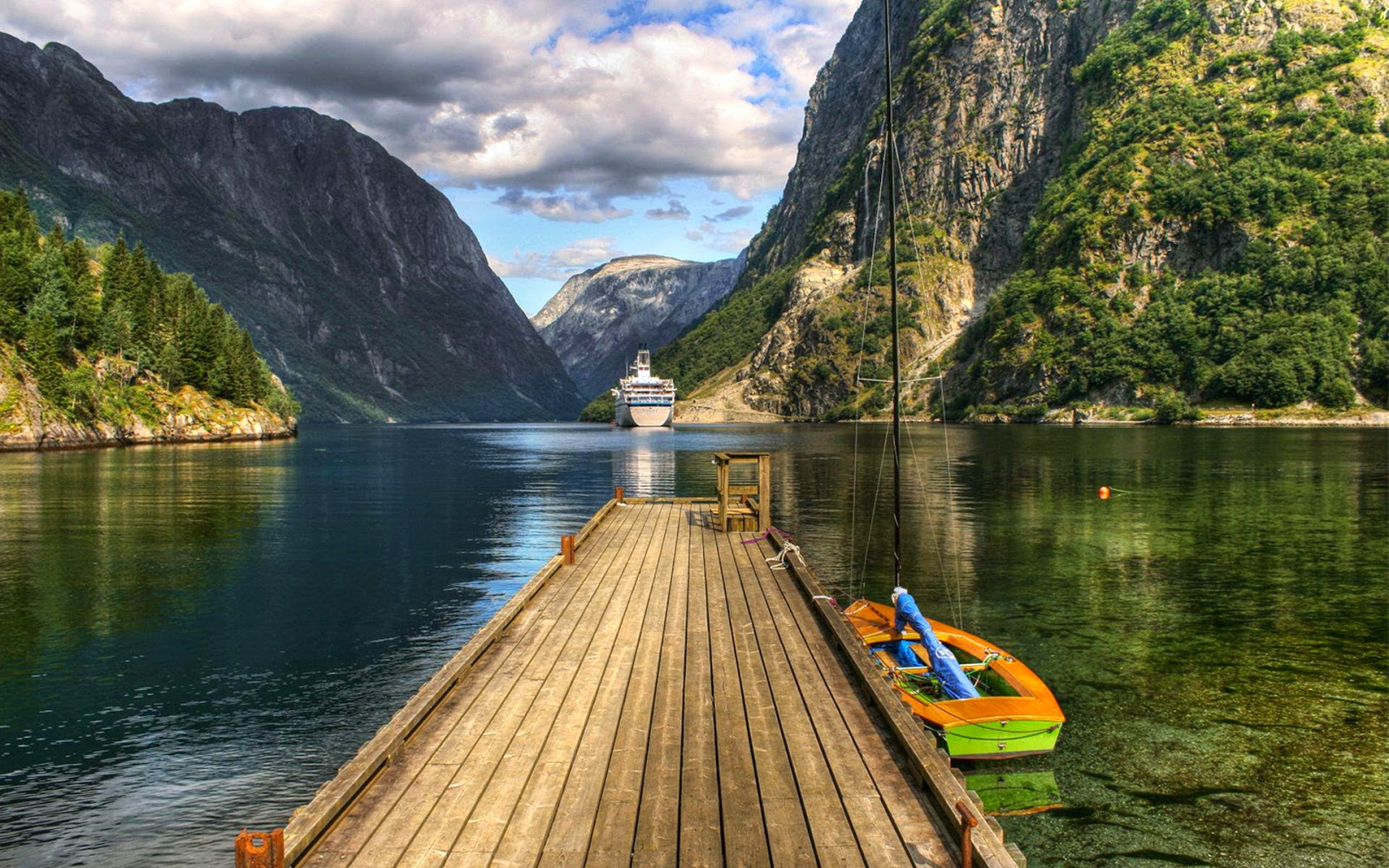Nature Mountains, Lake HD Wallpapers