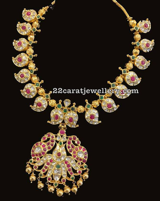 Mango Necklace with Gold Balls Combination