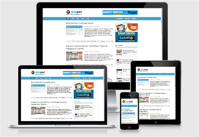Mixpal Responsive Blogger Template for blog