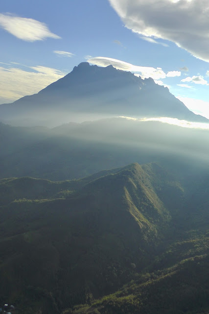 Helicopter View of Mount Kinabalu