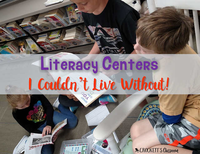 Literacy Centers I Couldn't Live Without!  These are the 5 most effective literacy centers I've used in my classroom.  The help students stay focused on the reading and writing skills and strategies they need to succeed.