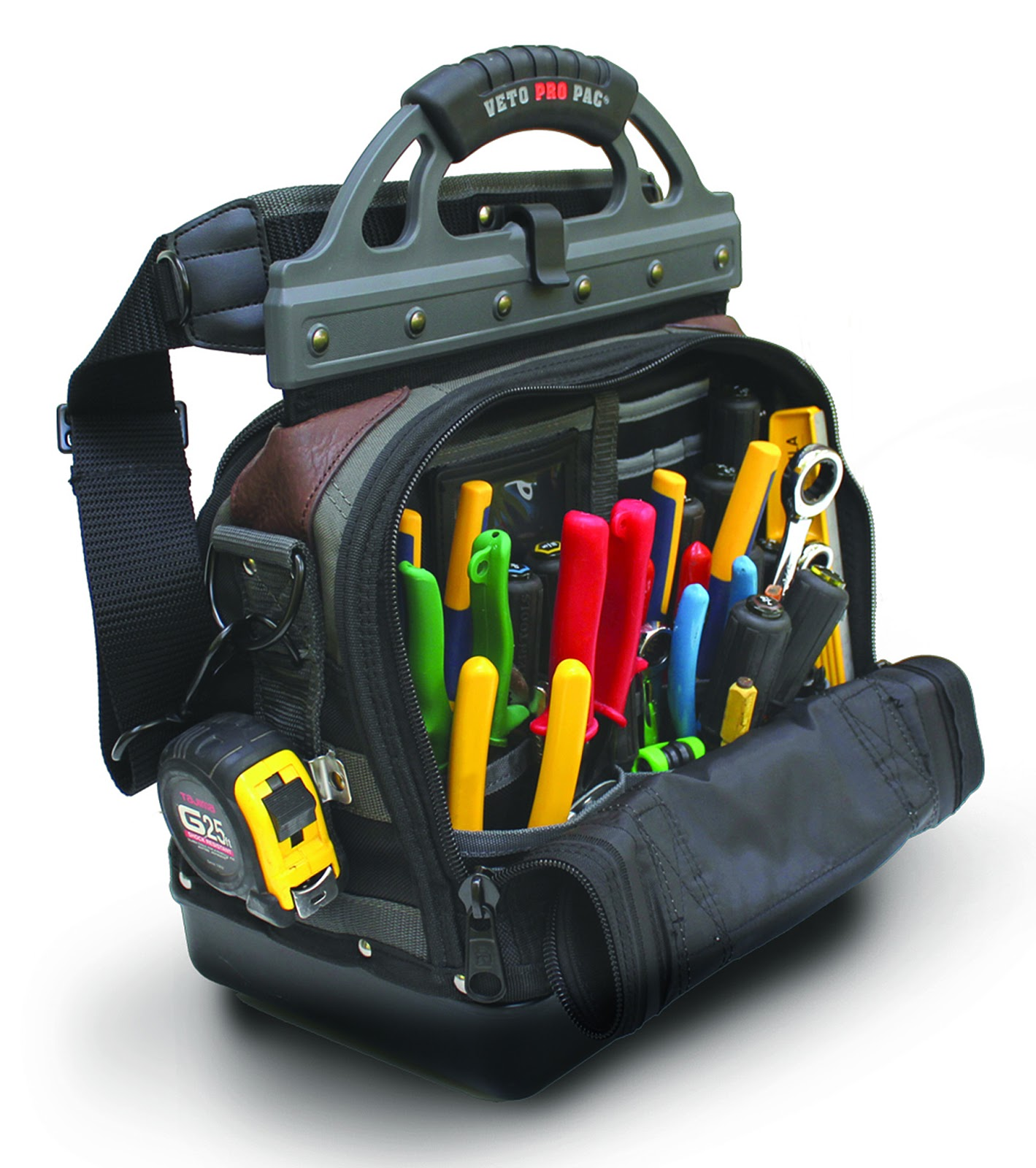 The Inside Of An Electricians Tool Bag