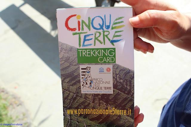 Cinque Terre Trekking Card, Italia, Sentiero Azzurro, Unesco World Heritage, Patrimoni de la Humanitat