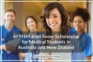 John Snow Scholarship for Medical Students in Australia and New Zealand 2018