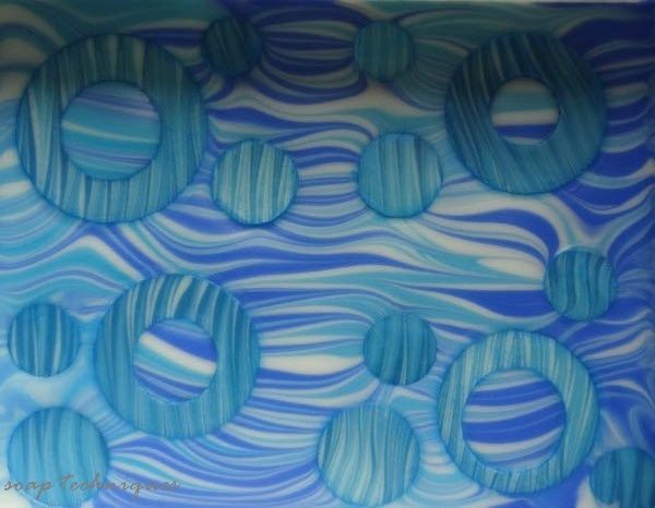 cold-process soap - Embedded Circles