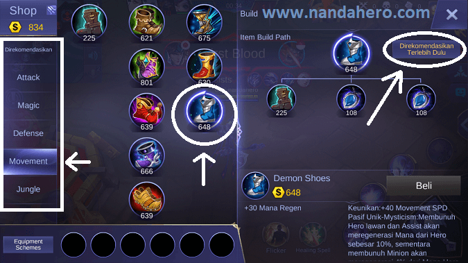setting gear mobile legends 2019