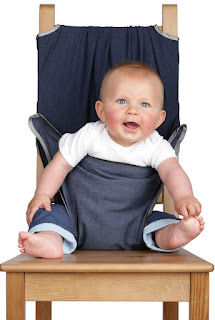 Best Baby Safety: Totseat The Washable Squashable Highchair (Denim Blue) £18.75