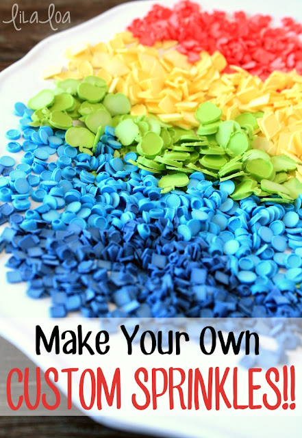 Make your own sprinkles -- any color - any shape!!