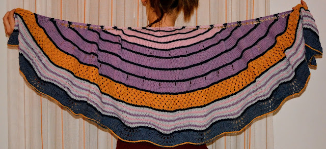 Fall Spectrum Shawl