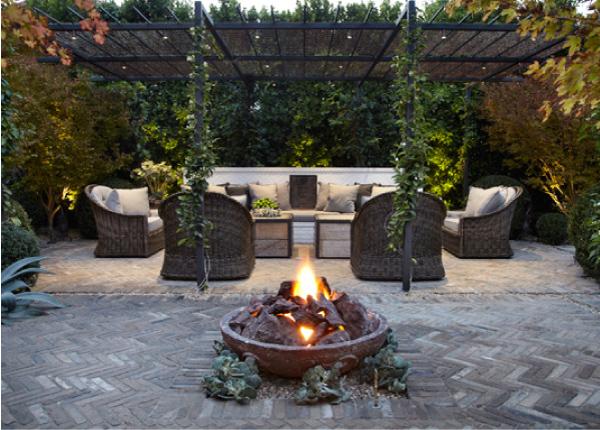 Un giardino di pietra blog di arredamento e interni - Bracieri per esterno ...