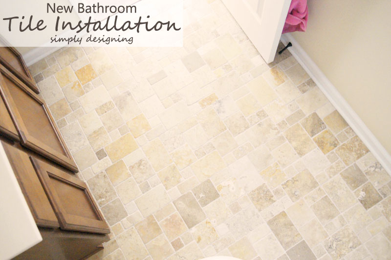 New Bathroom Tile Installation | a complete tutorial for how to demo, prep, install concrete backer board and install tile | #diy #bathroom #tile #thetileshop @thetileshop