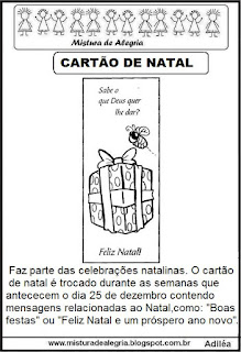 Texto sobre cartão natal