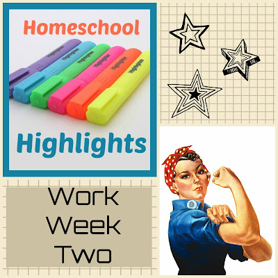 Homeschool Highlights - Work Week Two on Homeschool Coffee Break @ kympossibleblog.blogspot.com - a weekly link-up for homeschoolers