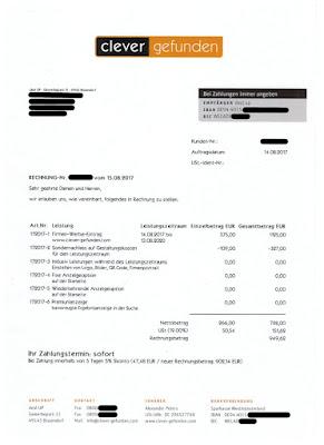 "Scan: Rechnung ""clever-gefunden"" deal UP  | 14.08.2017"