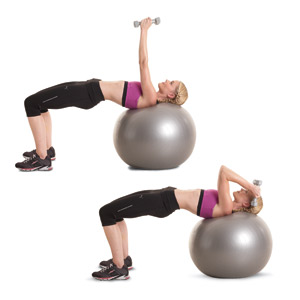 Stability Ball And Dumbbell Exercises 53