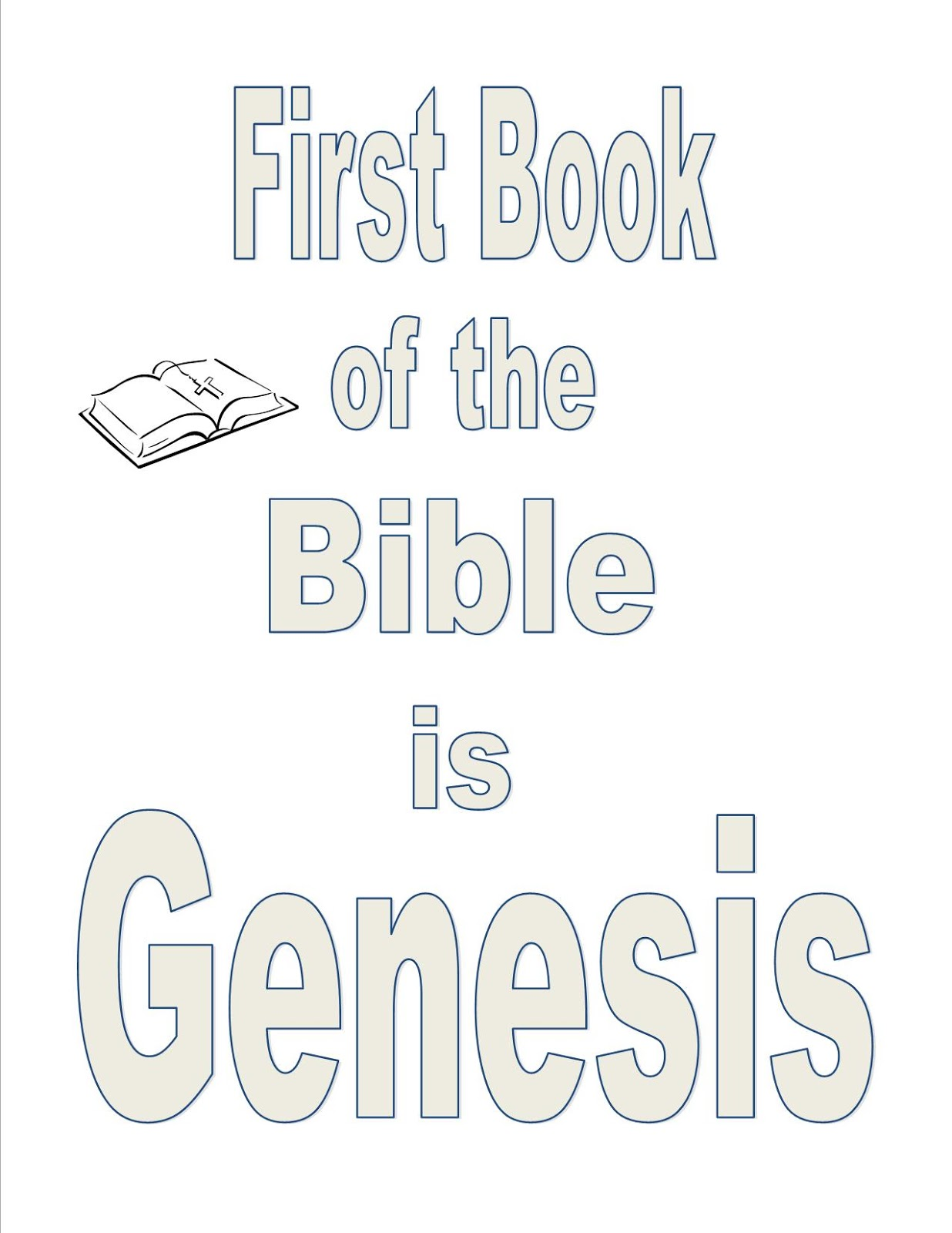 Sunday School Lessons Of Plenty Books Of The Bible Coloring Pages