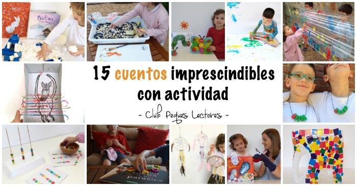 cuentos infantiles imprescindibles con actividades, juegos o manualidades para fomentar la lectura