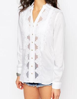 Lace detail shirt, $56.61 from River Island