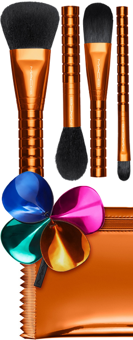 M·A·C 5-Pc. Shiny Pretty Things Face Focus Brush Party Set Limited Edition