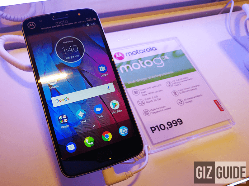 Motorola Moto G5S Is Now In The Philippines Too For PHP 10999!