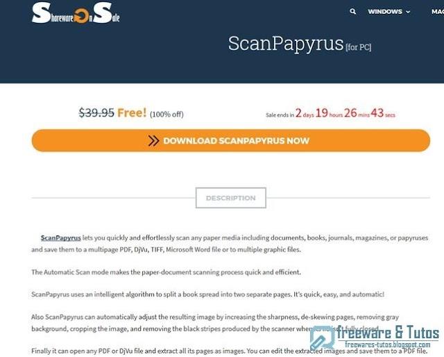Offre promotionnelle : ScanPapyrus gratuit (3 jours) !