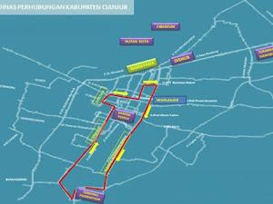 Jalur Lintasan Trayek Angkutan Umum Kabupaten Cianjur