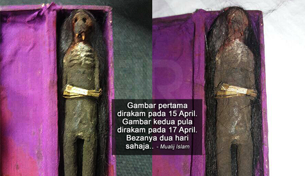 'Muka anak patung sihir itu berubah selepas hari kedua...'