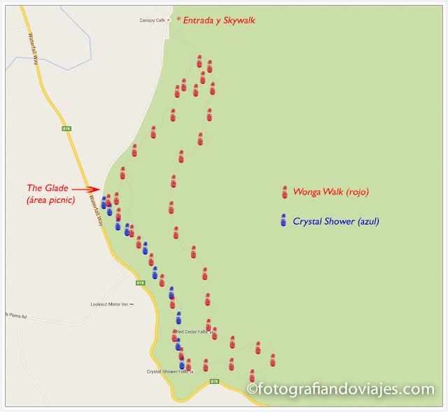 Mapa trekking Dorrigo
