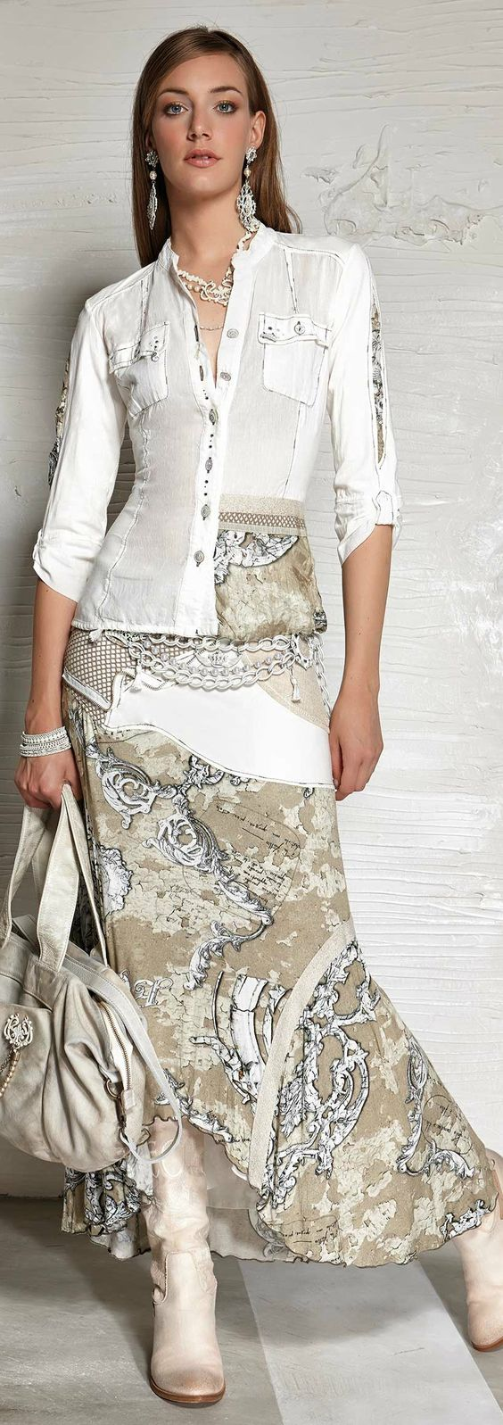 Outstanding white combination outfit