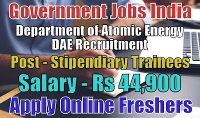 DAE Recruitment 2018 for 209 Trainees Posts