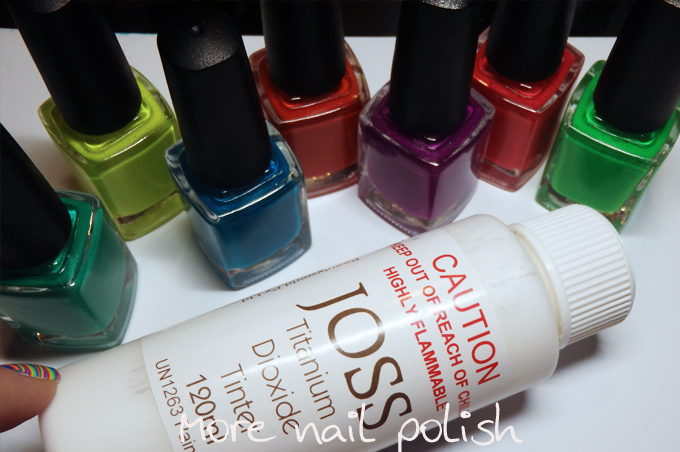 How to make your own neon watermarble polishes ~ More Nail Polish