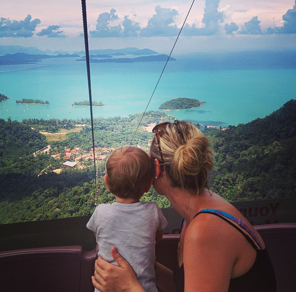 But Shaun left his job, sold their car, rented their house and took off with their 10-week-old baby - 1-Year-Old Has Been Travelling Around The World Since She Was Born