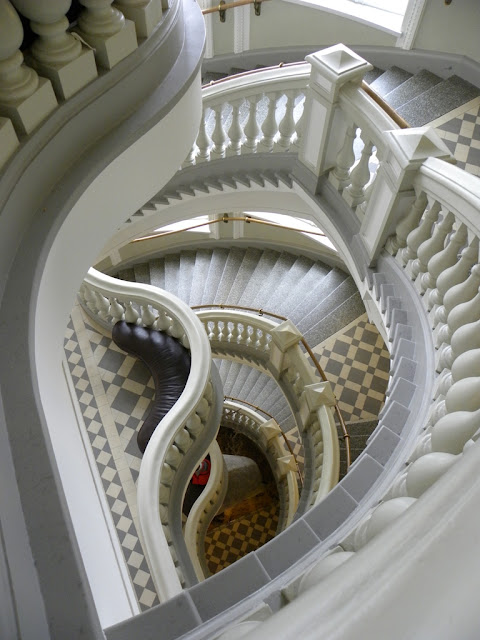 Magnificent winding staircase in Helsinki natural history museum - found on Hello Lovely Studio