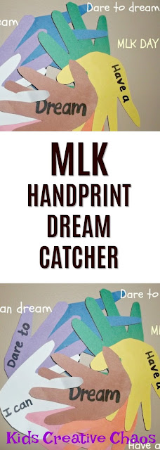 Handprint Dream Catcher Paper Craft for Martin Luther King Day